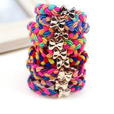 elastic hair ties 5pcs new fashion braided stretch hair ties elastic hair