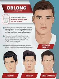 mens hairstyles for oblong faces top 6 best men s haircuts by face shape infographic humble rich