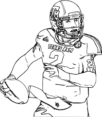 American Football Player Coloring Pages To Print Coloringstar Football Coloring Page
