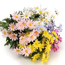24 heads artificial flower daisy bouquet fake flowers blossom