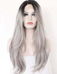 light in the box wig reviews amazon com k ryssma ombre gray 2 tones synthetic lace front wig