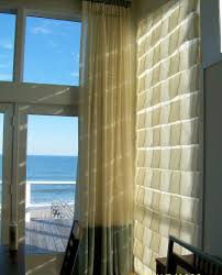 sheer hobbled roman shades