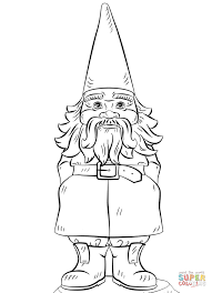 gnome coloring free printable coloring pages