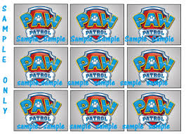 labels for party favors 9 paw patrol inspired stickers birthday party favors labels