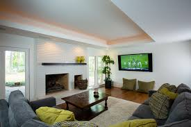 living room ceiling lights family room contemporary with basement