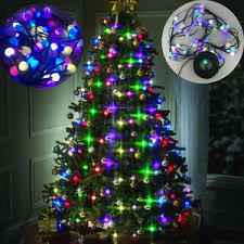 48 led bulbs tree multi colored lights decor hanging