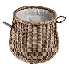 cane laundry hamper bira laundry basket dark brown