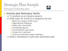 strategic plan sample strategic marketing plan august video