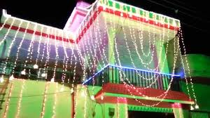 Christmas Decoration Lights Home Lights Decoration On Wedding Ceremony Youtube
