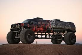 monster trucks in mud videos sin city hustler u0027 is a 1m ford excursion monster truck video