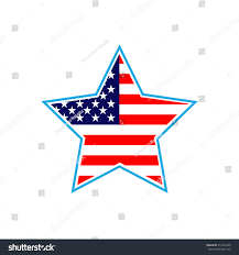 Red White Flag With Blue Star Flag Usa Blue Star Sign Isolated Stock Vector 475424329 Shutterstock
