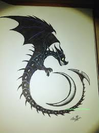 guardian of the night dragon tattoo design by cloudy dragons on