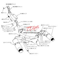 lexus hks hi power exhaust exhaust hi power spec l 86 brz cat back titanium tip hks car toys