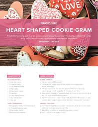 cookie gram frigidaire heart shaped cookie gram recipe ta appliance