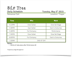 simple silo builder silo tree daily schedule theatre arts uiowa wiki