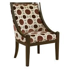 Living Room Chair Height Acme Furniture Gabir Accent Chair Circle Pattern U0026 Espresso