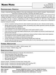 types resume teacher resume professional profile resume for teachers job