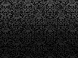 halloween background skulls damask wallpaper skull black dark photoshop photography misc