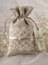 linen favor bags rustic linen wedding favor bag lace wedding by 4lovepolkadots