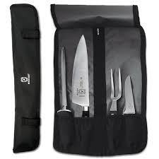 amazon com mercer culinary 4 pocket knife roll knife storage