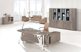 Leather Office Desk Fashion Excutive Table China Hongye Shengda Office Furniture