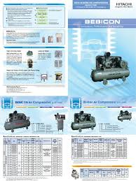 bebicon air compressors brochure piston gas compressor