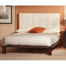 Leather Headboard Platform Bed Solide Platform Bed White Leather Headboard By Charles P Rogers