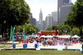 The Oval Sneak Peek The Oval Pop Up Park Opens Today Curbed Philly