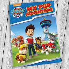 personalised paw patrol adventure book buy prezzybox
