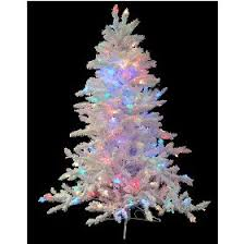 4 5 pre lit flocked white spruce artificial tree multi