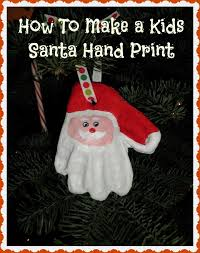 how to make a clay santa print ornament holidappy