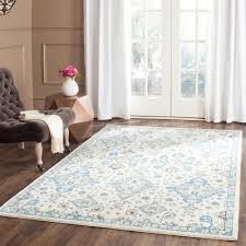 Grey And Blue Area Rugs Safavieh Evoke Ivory Light Blue 8 Ft X 10 Ft Area Rug Evk224c 8