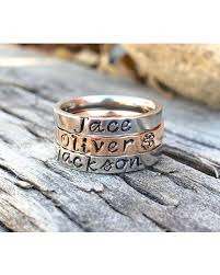 mothers ring with names here s a great deal on stacking rings stacking name ring stackable