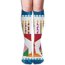 chanukah socks hanukkah candle chanukah soccer compression socks