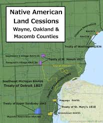 Kansas Walk In Hunting Map Detroit Urbanism Indian Villages Reservations And Removal