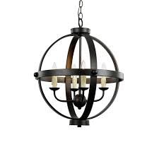four lights exterior unique black chandelier with four light by trans globe