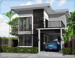 simple 2 storey house design small two story plans narrow lot