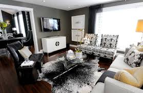 awesome modern gray white black yellow living room livinator