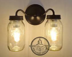 Mason Jar Ceiling Fan by Mason Jar Ceiling Light Fixture Vintage Pint Trio Flush