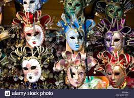 venetian masks for sale venetian masks on sale at the markets in florence italy stock photo
