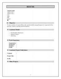Resume Writing Templates Free Resume Writing Template Format Pdf Free Templates For