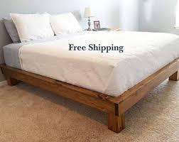 Solid Wood Platform Bed Platform Bed Legs Etsy
