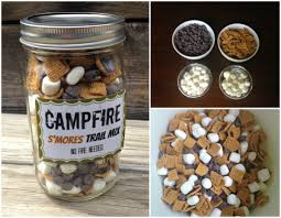 diy trail mix smores collage all things palatable pinterest