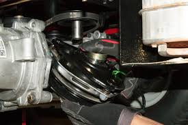 how to replace the ground drive belt on a zero turn riding mower