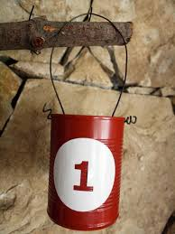 How To Decorate A Tin How To Make A Tin Can Advent Calendar Hgtv