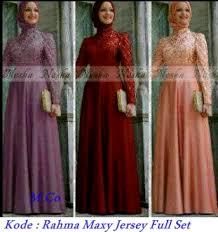 Grosir Baju Muslim grosir baju dan busana muslim rahma maxy jersey set pabrik