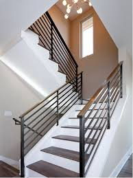 Wood Interior Handrails Wood And Metal Railing Houzz