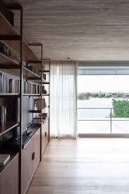 interior concrete walls buenos aires house by federico sartor has concrete walls and lake