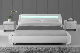 bed frame with lights madrid led lights modern designer white bed frame single double
