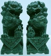 green foo dogs foo dog jade hj018g